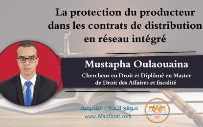 La protection du producteur dans les contrats de distribution en réseau intégré